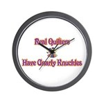 Quilters Gnarly Knuckles Wall Clock