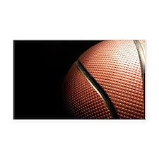 Basketball Rectangle Car Magnet