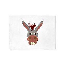 Donkey Face 5'x7'Area Rug