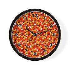 Halloween Candycorn Wall Clock