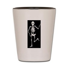Skeleton Bones Halloween Shot Glass