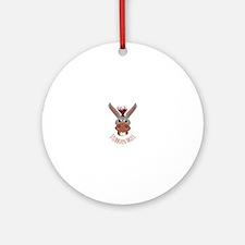 Stubborn Mule Ornament (Round)