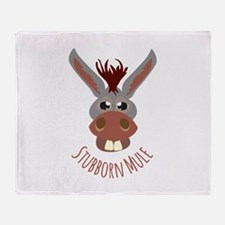 Stubborn Mule Throw Blanket