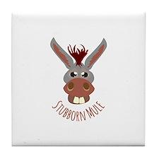Stubborn Mule Tile Coaster