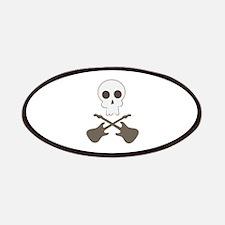 Skull & Guitar Bones Patches