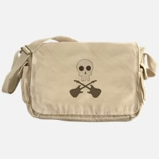 Skull & Guitar Bones Messenger Bag