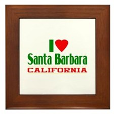 I Love Santa Barbara, California Framed Tile
