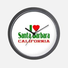 I Love Santa Barbara, California Wall Clock