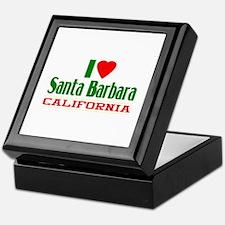 I Love Santa Barbara, California Keepsake Box