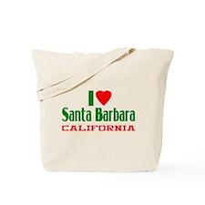 I Love Santa Barbara, California Tote Bag