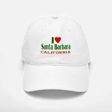I Love Santa Barbara, California Baseball Baseball Cap