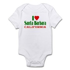 I Love Santa Barbara, California Infant Bodysuit