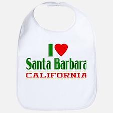 I Love Santa Barbara, California Bib