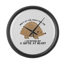 Softie at Heart Large Wall Clock