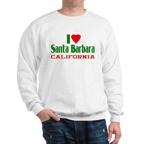 I Love Santa Barbara, California Sweatshirt