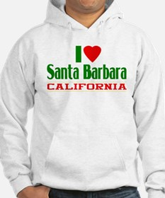 I Love Santa Barbara, California Hoodie