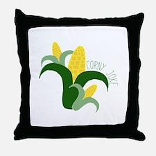 Corny Joke Throw Pillow