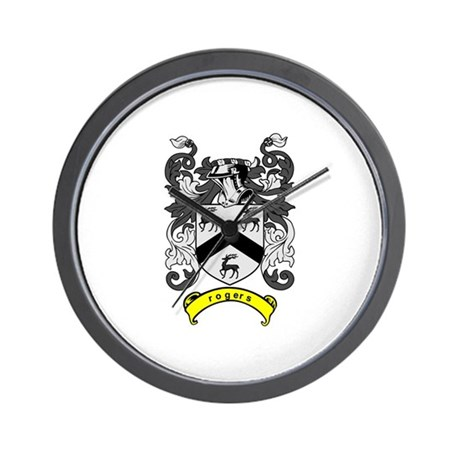 ROGERS Coat of Arms Wall Clock