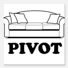 "Pivot Couch Square Car Magnet 3"" x 3"""