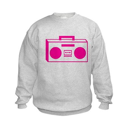 boom box pink Kids Sweatshirt