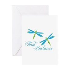 Find Balance Greeting Cards