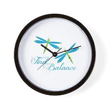 Find Balance Wall Clock