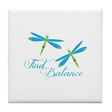 Find Balance Tile Coaster