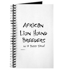 African Lion Hound Doggy Style Journal