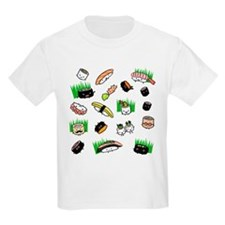 Sushi Characters Pattern T-Shirt