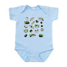 Sushi Characters Pattern Infant Bodysuit