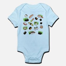Sushi Characters Pattern Infant Bodysuit