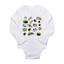 Sushi Characters Patte Long Sleeve Infant Bodysuit