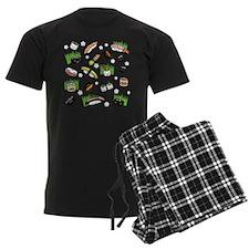 Sushi Characters Pattern Pajamas