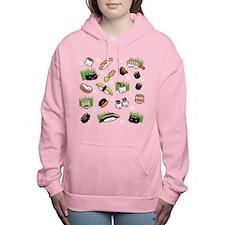 Sushi Characters Pattern Women's Hooded Sweatshirt