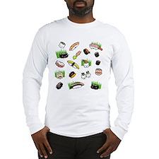 Sushi Characters Pattern Long Sleeve T-Shirt
