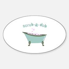 Scrub-a-dub Tub Decal
