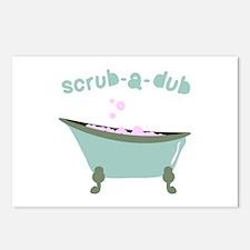 Scrub-a-dub Tub Postcards (Package of 8)