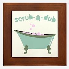 Scrub-a-dub Tub Framed Tile