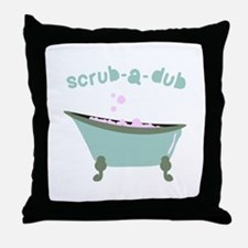Scrub-a-dub Tub Throw Pillow