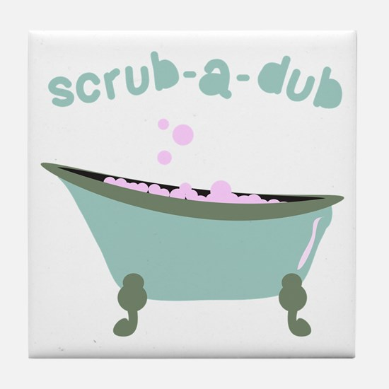 Scrub-a-dub Tub Tile Coaster