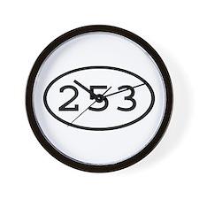 253 Oval Wall Clock