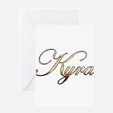 Gold Kyra Greeting Cards