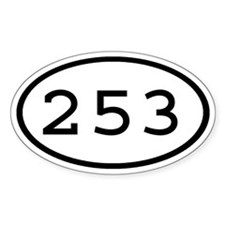 253 Oval Oval Decal