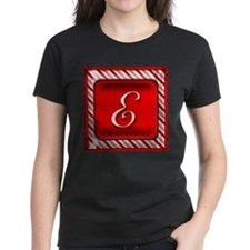 Peppermint Candy Cane Monogram E T-Shirt