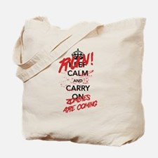 Run! Zombies Are Coming Tote Bag