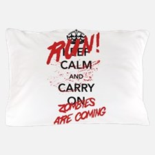 Run! Zombies Are Coming Pillow Case