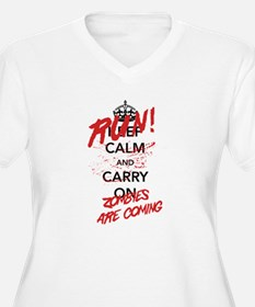 Run! Zombies Are Coming Plus Size T-Shirt