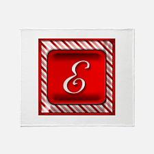 Cute Monogram letter e Throw Blanket