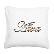 Unique Alva Square Canvas Pillow