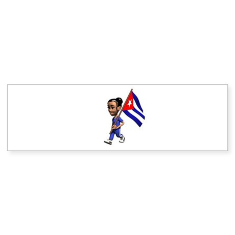 Cuba Girl Bumper Sticker